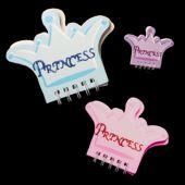 Princess Crown Note Pads - 12 Pack