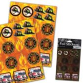 Firefighter Foil Stickers – 2 Pack