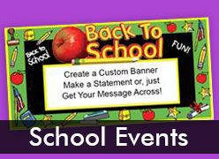 School Event Custom Banners