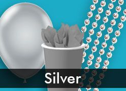 Silver Party Supplies & Decorations
