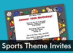 Personalized Sports Theme Invitations