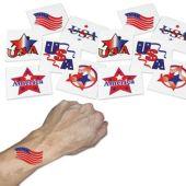 "Patriotic 1 1/4"" Tattoos - 144 Pack"