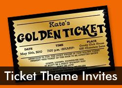 Personalized Ticket Invitations