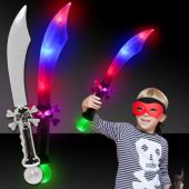 "Pirate 23"" Sword with Multi Color LEDs and Prism Ball"